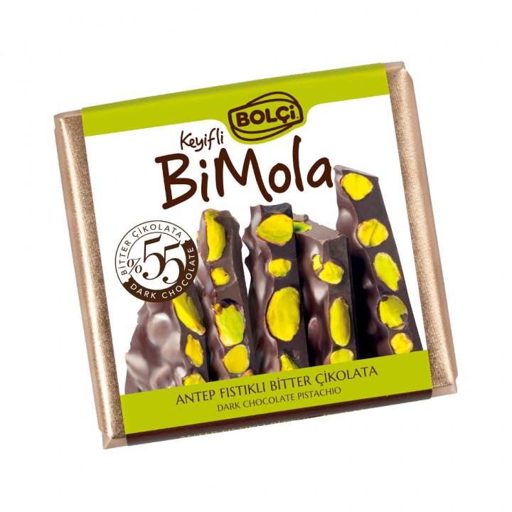 Bi Mola Bitter Antep Fıstık Tablet Çikolata 70 g