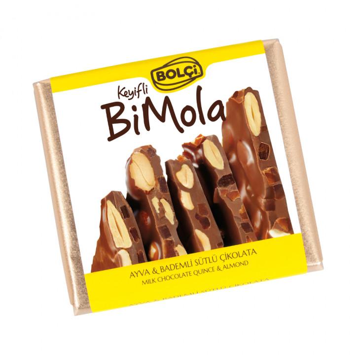Bi Mola Sütlü Ayva Badem Tablet Çikolata 70 g