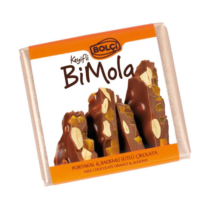 Bi Mola Sütlü Portakal Badem Tablet Çikolata 70 g