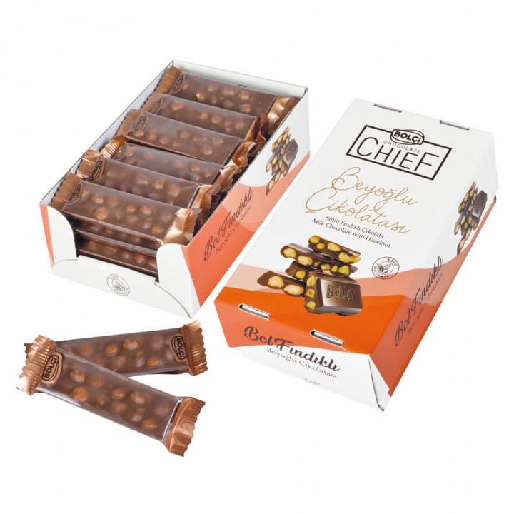 Sütlü Fındıklı Beyoğlu Çikolatası (Display) 30 g