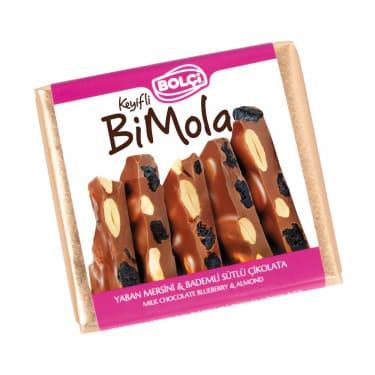 Bi Mola Sütlü Yaban Mersini Badem Tablet Çikolata 70 g